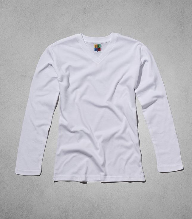 חולצת סנס קידס בנות שרוול ארוך צווארון V